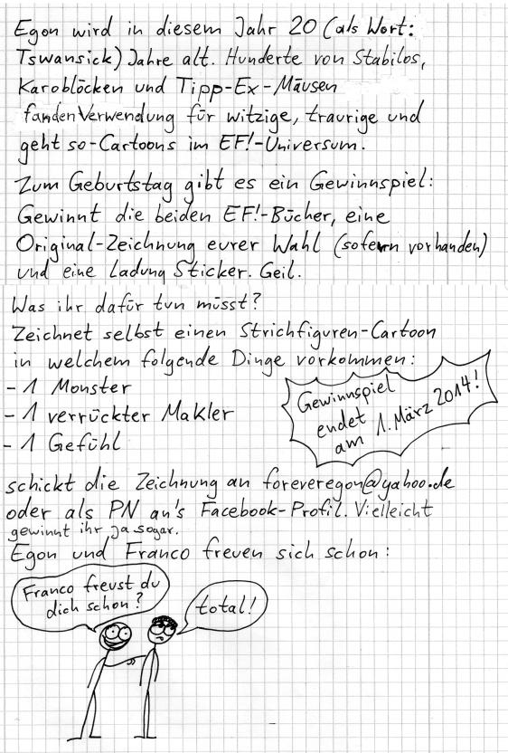Egon Forever! 2014 Gewinnspiel