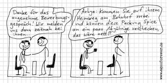 cartoon egon forever vorstellungsgespräch