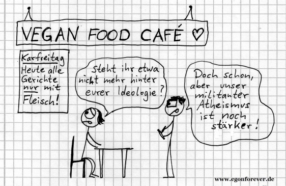 egon forever karfreitag vegan cartoon