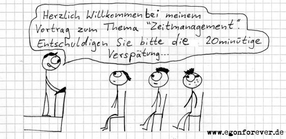 cartoon egon zeitmanagement