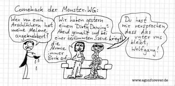 cartoon monster comic karikatur egon forever