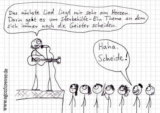egon cartoon karikatur sterbehilfe
