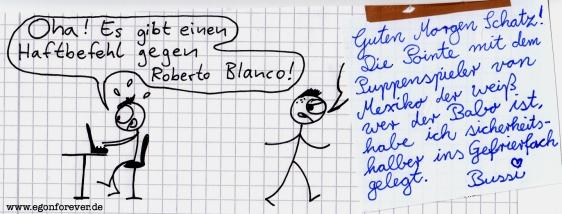 egon forever roberto blanco haftbefehl cartoon