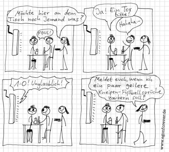 egon forever cartoon wm 2014 kneipe