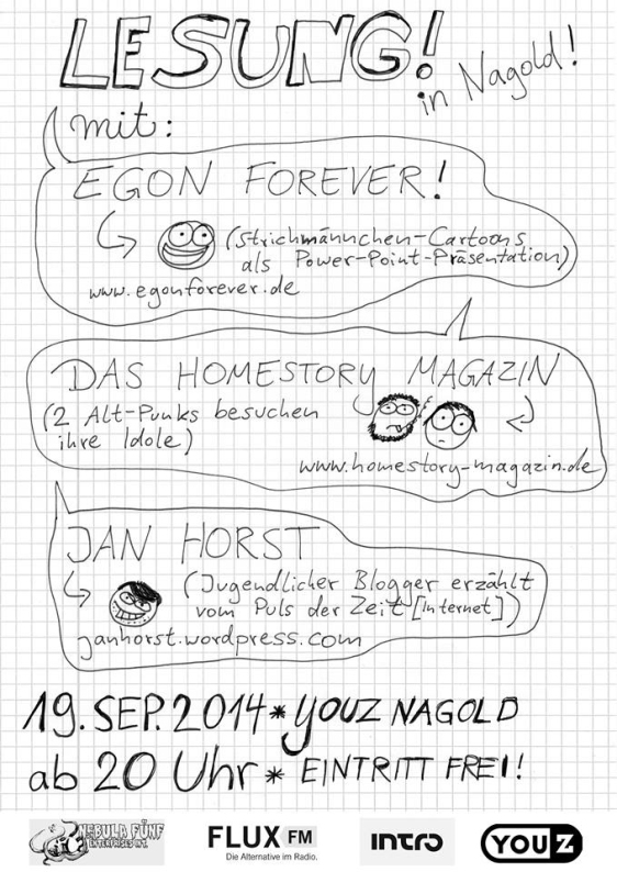 Egon forever cartoon nagold youz 2014 homestory magazin jan horst