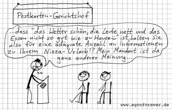 egon forever cartoon postkarte urlaub
