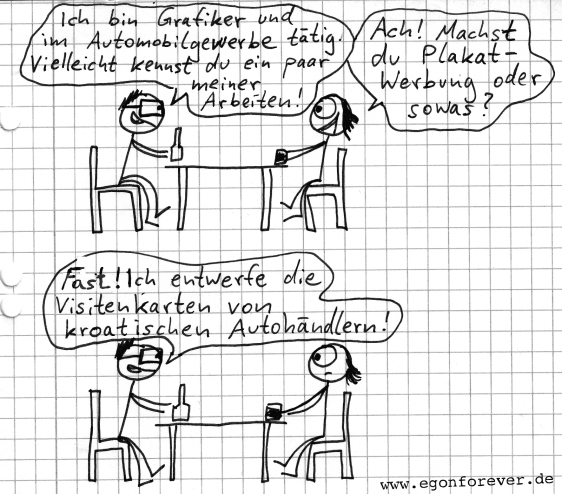 www.egonforever.de egon forever cartoon autohändler