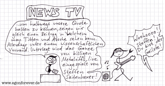 egon forever cartoon news tv