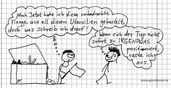 flagge-egon-forever-cartoon