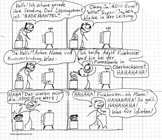 gewinnspielanruf-egon-forever-cartoon