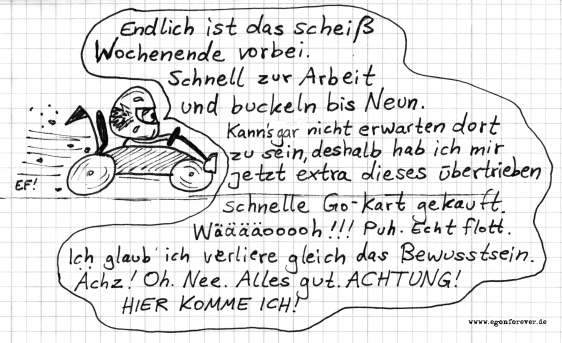 gokartarbeit-egon-forever-cartoon